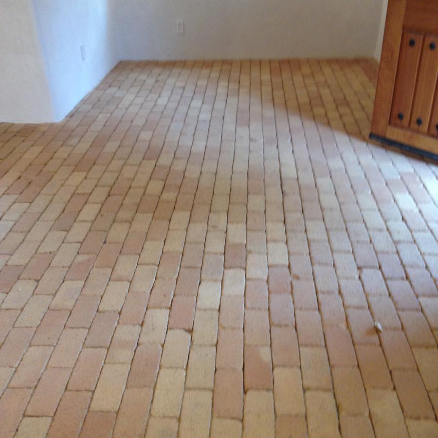 Brick Floor - Before